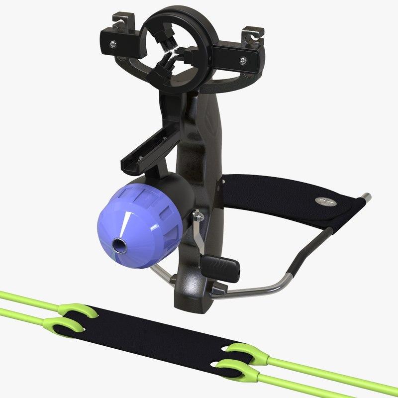 fishing slingshot 3D model