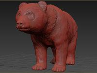 panda realistic animation 3D