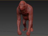 3D orangutan animation