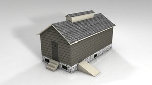 3D pier wood house