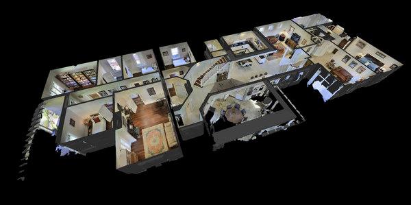 3D luxury home 4 model