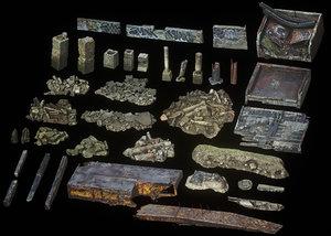 3D dock ruins scans model