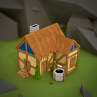 Age Of Empires 2 - Low Poly House