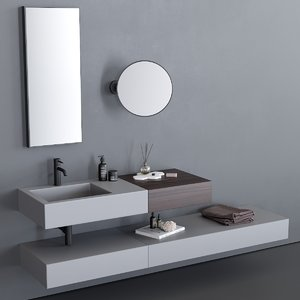 3D model cielo modulo washbasin
