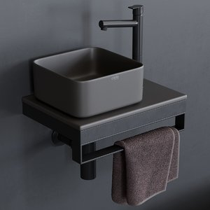 3D shui comfort washbasin art model