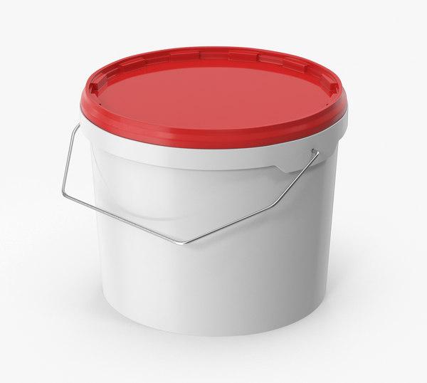 3D plastic bucket