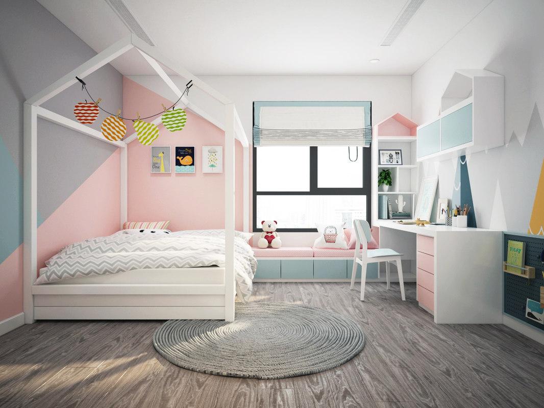 bedroom modern bed 3D model