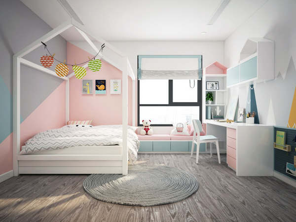 bedroom modern bed 3D model