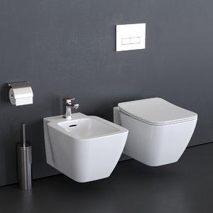 toilet strada ii t2997 3D model