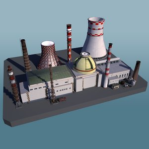 3D industrial factory