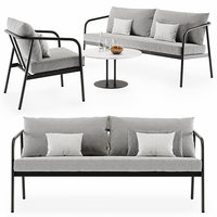outdoor radsted sofa armchair 3D