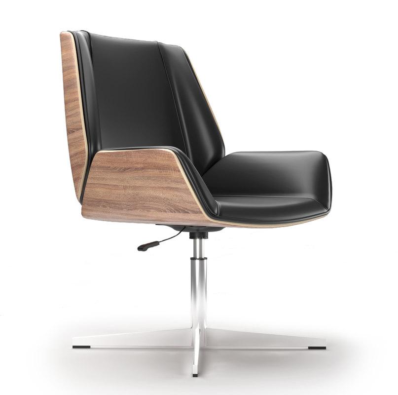 3D office armchair milano black model
