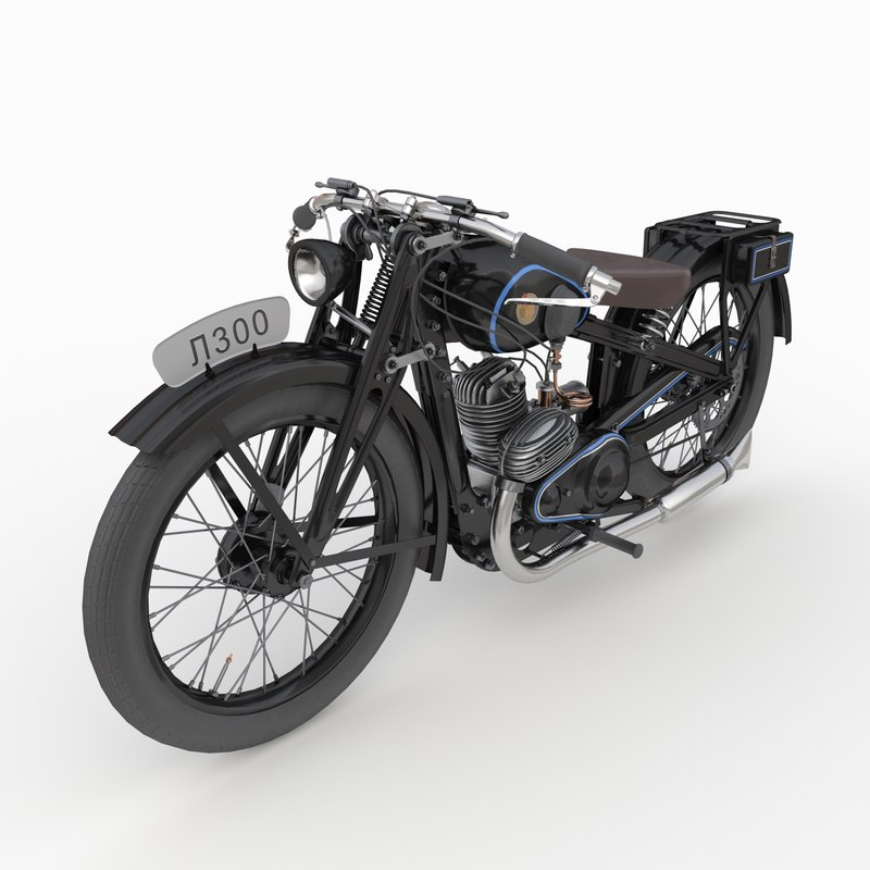 3D soviet motorcycle l300