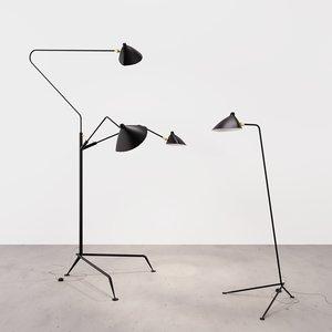 standing lamp package serge 3D model
