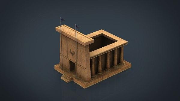 3D egyptian temple