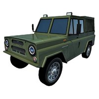 3D military vehicle