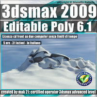 006.1 3ds max 2009 Editable Poly v.6.1 Italiano cd front