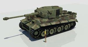 tank german ww2 3D model