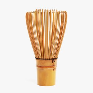 3D model matcha whisk chasen