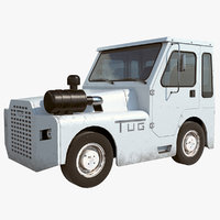 3D airport tug tractor model