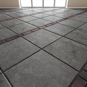 Paving slabs Floor 011