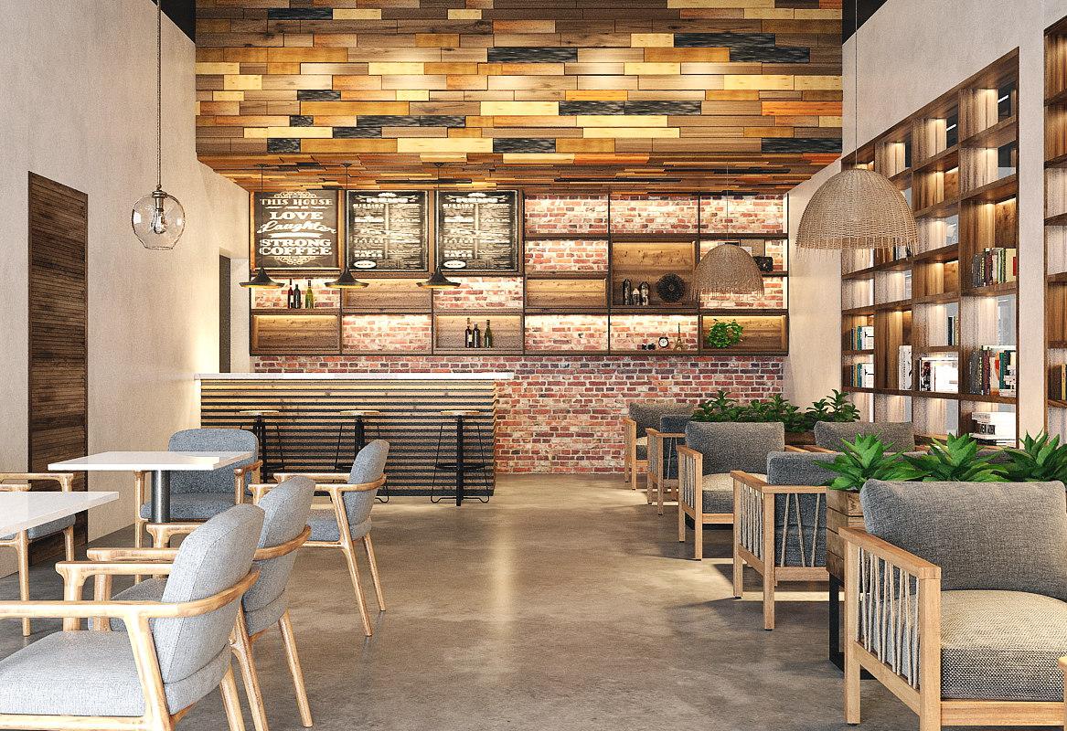 3D coffee restaurant