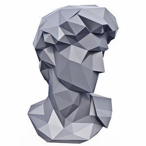 3D head michelangelo david
