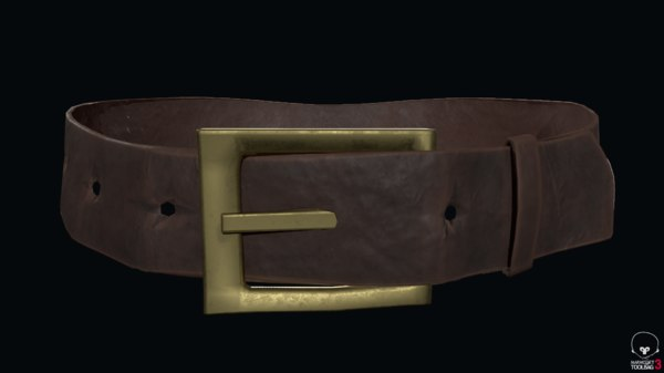 3D model leather belt