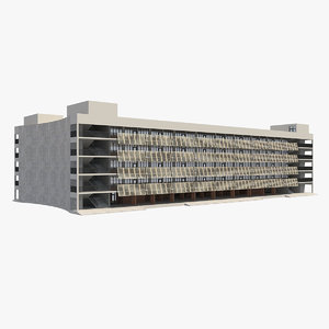 3D building 4 model