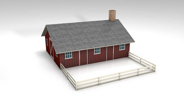 3D pig place stable