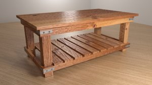 cameron coffee table 3D model