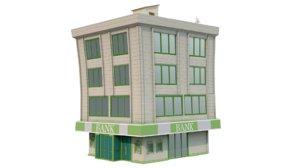 bank building 3D model