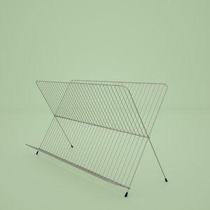metal dishrack 3D model