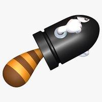 3D tail bullet bill