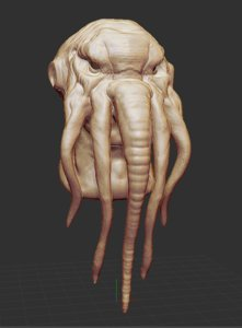 3D creature god devil