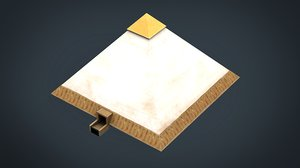 3D egyptian pyramid model