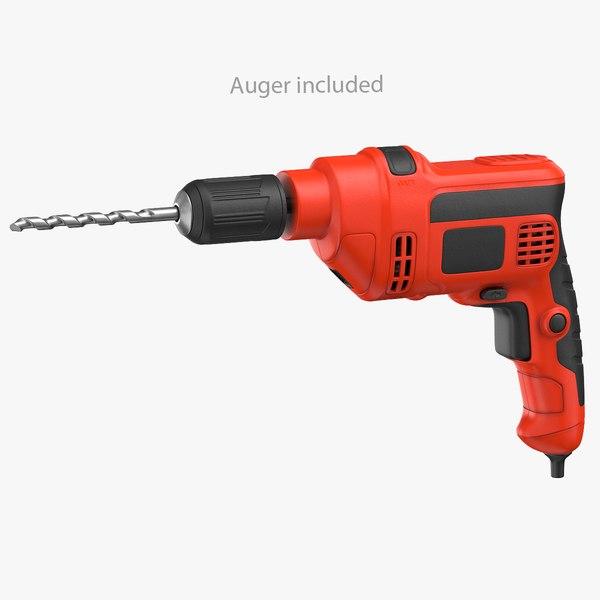 3D electric drill generic model