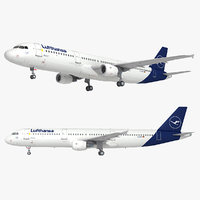 a321 new livery airplane 3D model