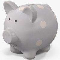 piggy bank classic 3D