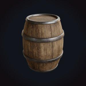 3D medieval barrels