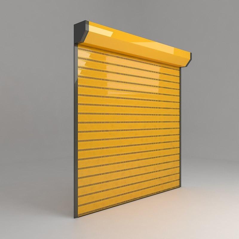 store garage door 3D model