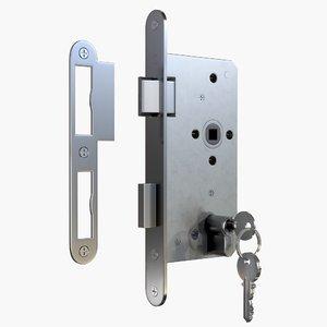 3D euro key lock