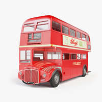 london routemaster bus transport 3D model