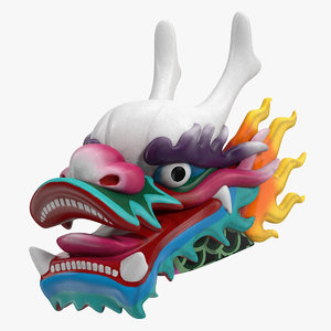chinese dragon head 3D