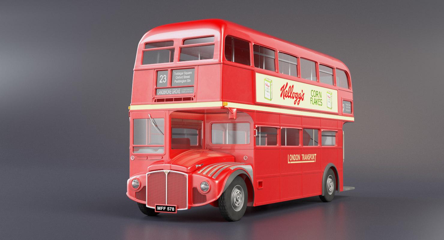 london routemaster bus transport 3D model