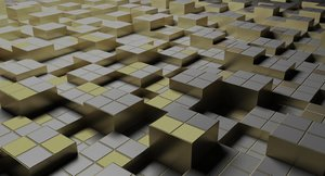 3D model geometry cubes