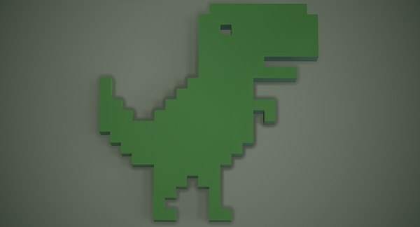 3D google dinosaur t-rex
