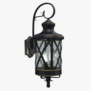 landon outdoor wall lantern 3D model
