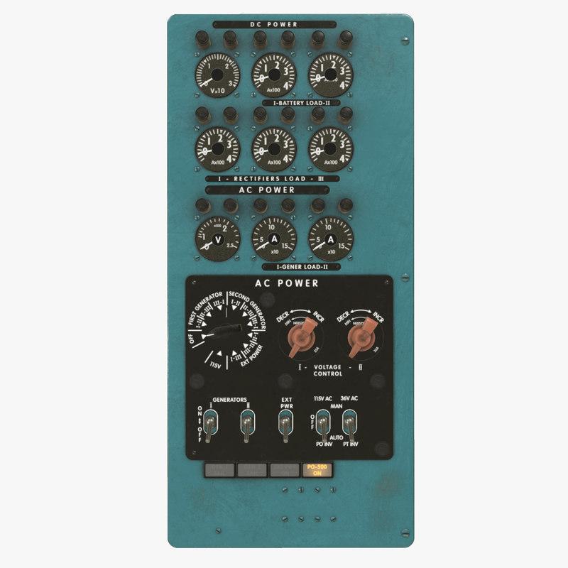power panels board mi-8mt 3D model