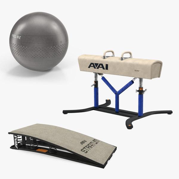 3D model gymnastics equipment